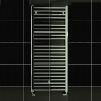 TS 600 x 1150 Towel Rail Flat Chrome