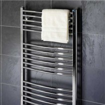 Design Curved 600 x 1600 Chrome Towel Rail Pack