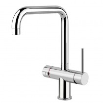 Oxygen 98 3 Way Mixer with U Spout Brushed Steel