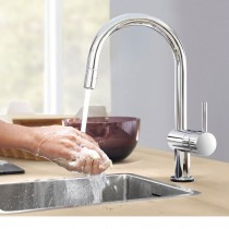 Minta Touch Electronic Sink Mixer C-Spout Chrome
