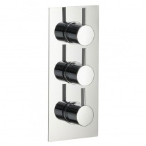 Arco 3 Knob Twin Outlet Thermostatic Shower Valve