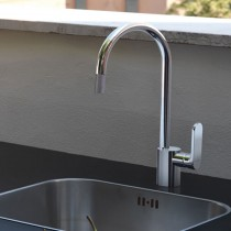 X-Light Monobloc Sink Mixer with Pull Out Aerator