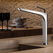 O'Rama Hi Control Sink Mixer Brushed Nickel