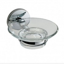 Lincoln Glass Soap Dish & Holder
