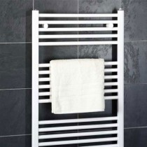 Design Flat 400 x 800 White Towel Rail