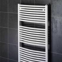 Design Curved 500 x 800 White Towel Rail