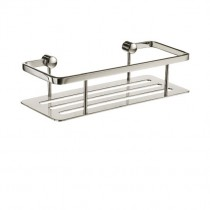 Sideline Straight Soap Basket Chrome Base