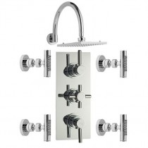 Tec Shower, Curved Fixed Head and Body Jets