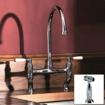 Astbury Dual Lever Bridge Mixer and Handspray Pewter