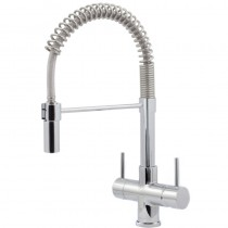 Milano 2 Lever Mixer And Cold Filter Tap Chrome