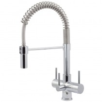 Milano 3 Lever Mixer And Cold Filter Tap Chrome