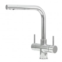 Sorrento 2 Lever Mixer And Cold Filter Tap Chrome