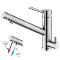 Alpha Mixer and Cold Filter With Swivel Spout Brushed Nickel