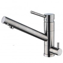 Alpha Mixer and Cold Filter With Swivel Spout Brushed Nickel ALP2BN