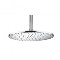 Aqualisa 300mm Thin Round Metal Shower Head with Rub Clean Jets