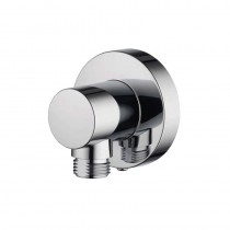Aqualisa Push Fit Round Wall Outlet Elbow