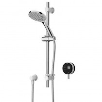Artisan Digital Shower with Adjustable Riser and Black Controller