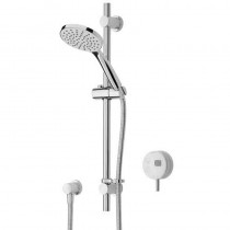 Artisan Digital Shower with Adjustable Riser and White Controller