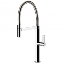 Helium Sink Mixer with Handshower Brushed Nickel