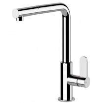 Aspire Mixer With Swivel L-Spout Pull Out Spray Brushed Nickel