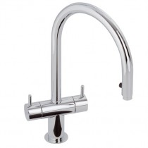 Hesta Twin Lever Sink Mixer Chrome