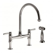 Brompton Lever Bridge Mixer and Handspray Chrome