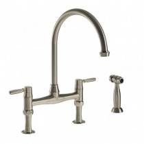 Brompton Lever Bridge Mixer and Handspray Pewter