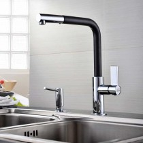 Auriga Monobloc Kitchen Mixer Tap Chrome & Black