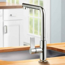 Auriga Kitchen Mixer Tap with Pull Out Spray Brushed Nickel