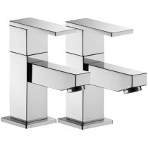 Bloque Bath Pillar Taps (Pair)
