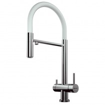 Bellatrix Mixer and Cold Filter Brushed Nickel White Silicon Spout