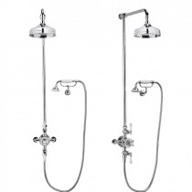 Belgravia Shower with 200mm Head and Handset on Cradle Bracket