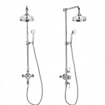 Belgravia Shower with 200mm Head and Handset on Slider Bracket