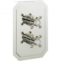 Crosswater Belgravia Crosshead Thermostatic Shower Valve 2 Way Nickel