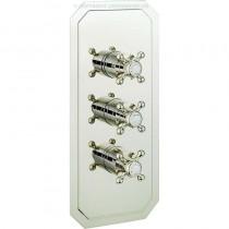 Crosswater Belgravia Crosshead 3 Control Shower valve 2 Way Portrait Nickel
