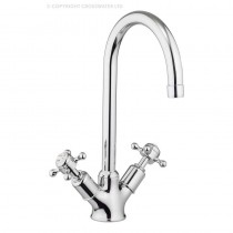 Crosswater Belgravia Crosshead Two Handle Kitchen Mixer