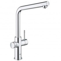 Grohe Blue Home Mixer and Cold Filter Tap L Spout Chrome