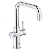 Grohe Blue Home Mixer and Cold Filter Tap U Spout Chrome