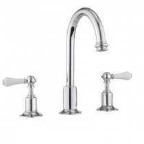 Crosswater Belgravia Lever 3 Hole Basin Set with Pop Up Waste