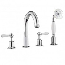 Crosswater Belgravia Lever 4 Hole Bath Set with Kit