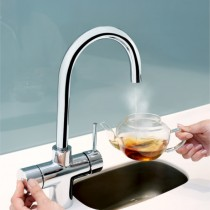 Bristan Rapid 3 in 1 Boiling Water Kitchen Sink Mixer Tap Chrome lifestyle GLL RAPSNK3 C