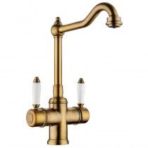 Cassini Mixer and Cold Filter With Swivel Spout Bronze