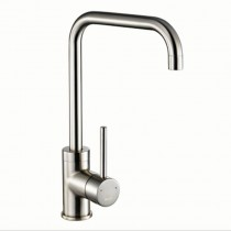 1810 Cascata Square Spout Sink Mixer Brushed Steel