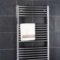 Design Flat 400 x 800 Chrome Towel Rail