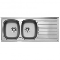 Axium 2 Bowl Inset Kitchen Sink Stainless Steel
