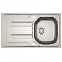 Bolero 1 Bowl Inset Kitchen Sink Stainless Steel