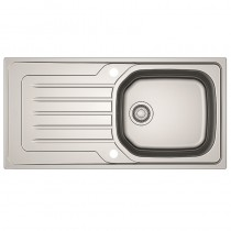 Bolero 1 Large Bowl Inset Kitchen Sink Stainless Steel