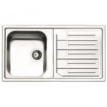 Maggio 1 Bowl Inset Kitchen Sink Stainless Steel