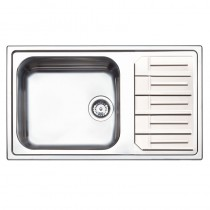 Maggio 1 Large Bowl Inset Kitchen Sink Stainless Steel