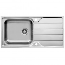 Purismo 1 Large Bowl Inset Kitchen Sink Stainless Steel